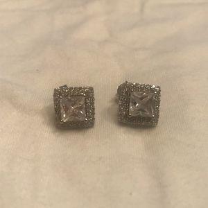 Jewelry - square diamond earrings